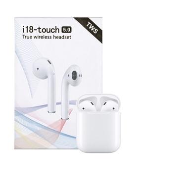 Tws Airpods i18-Touch TWS Bluetooth Kulaklık Ultra HD Ses Kalitesi Beyaz